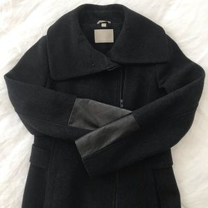 Soia & Kyo charcoal gray wool blend coat